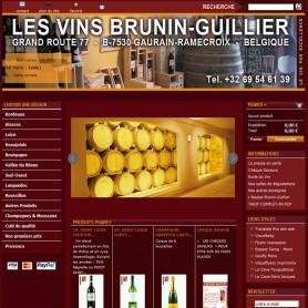 Vins Brunin Création site internet E-commerce viticulteur RueDuSite