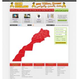Création site de petites annonces carte Maroc