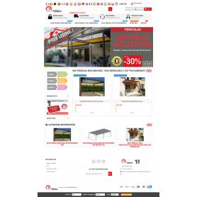 Creation site E-commerce vente de Pergola et menuiserie en ligne sur mesure