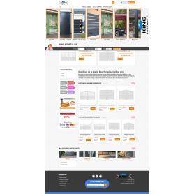 Création site E-commerce vente de menuiserie portail et fenetre King-Portail.com