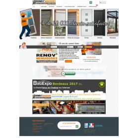 Création site vitrine vente de menuiserie portail et fenetre Renov-Menuiseries.