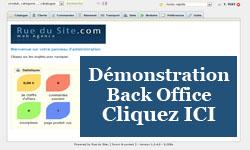 Démonstration back office e-commerce Rue Du Site Prestashop Création